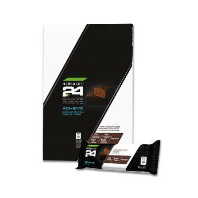 Barritas de Proteinas Achieve H24 Herbalife Chocolate Negro 60g