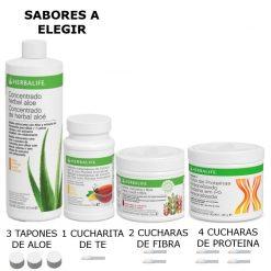 Pack Aloe, Fibra, Té y Proteína Herbalife