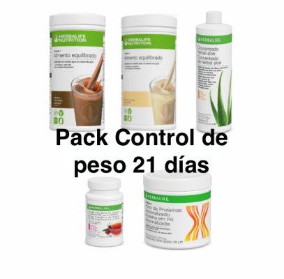 Pack Control de peso 21 días