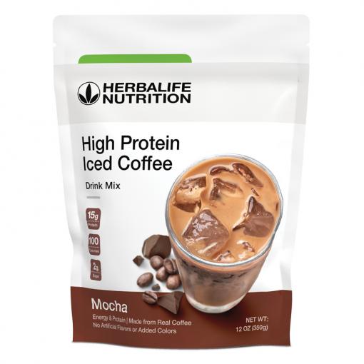 Café Helado con Proteínas - Latte Macchiato Herbalife