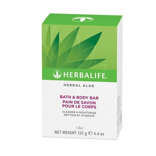 Pastilla de Jabón de Baño Corporal Herbal Aloe Herbalife
